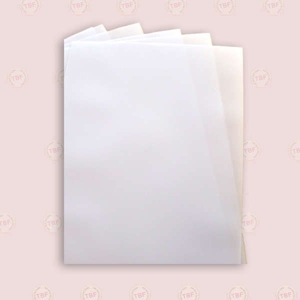 Parchment Sheet, Grease Proof Paper 40GSM, for food rolls & Baking(1 Pkt: 200Nos)